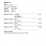 9+ Finance Meeting Agenda Template