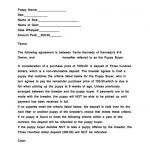23+ Puppy Sale Contract Template