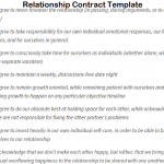 18+ Relationship Contract Template Funny