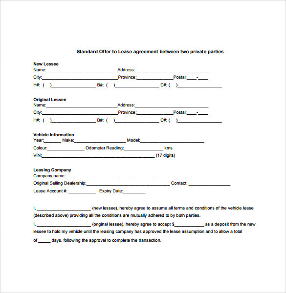 7+ Sample Vehicle Lease Agreement Templates - Samples ...