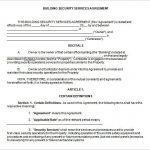 7+ Security Service Contract Template Free