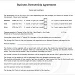 8+ Partnership Contract Template Free