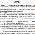 21+ Simple Residential Lease Agreement Template