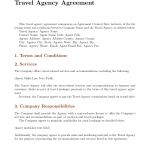 12+ Booking Agent Contract Template