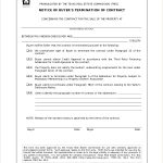25+ Terminate Contract Template