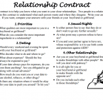 16+ Couples Contract Template