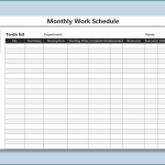 20+ Monthly Staff Schedule Template Excel