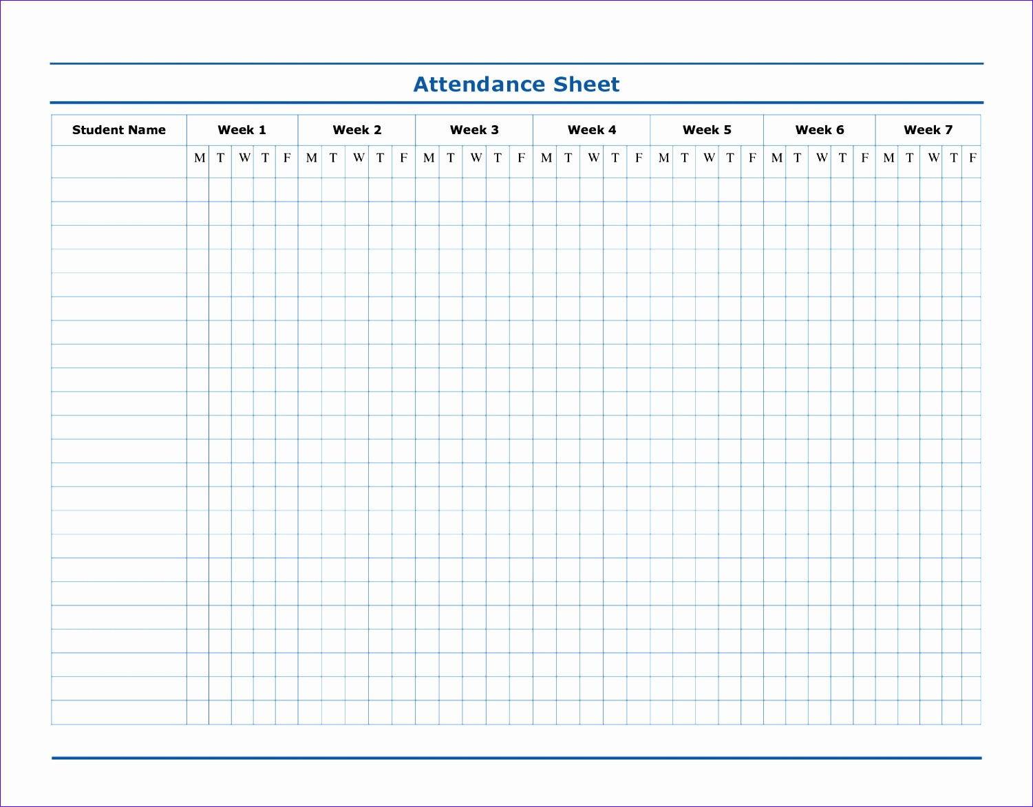 12 attendance Roster Template Excel - Excel Templates ...