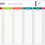 15+ Monthly Planning Calendar Template Excel