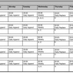 14+ Monthly Work Schedule Template Excel