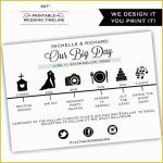 8+ Day Of Wedding Timeline Template Excel