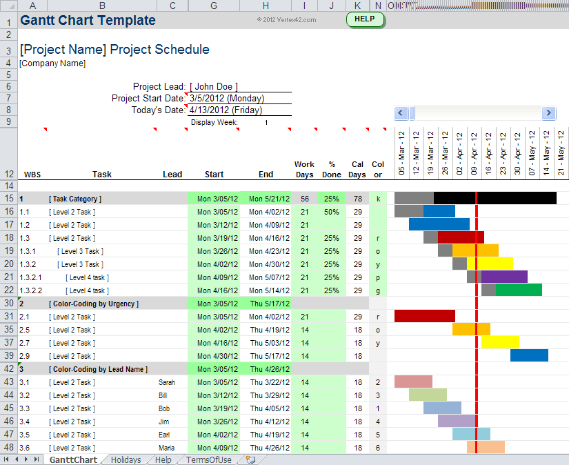Gantt Chart Template For Excel Gantt Chart Templates Project Management Templates Gantt Chart
