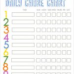 16+ Free Printable Family Chore Chart Template