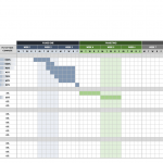 9+ Simple Excel Gantt Chart Template Free
