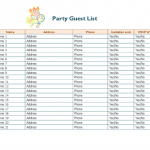 8+ Rsvp List Template Excel