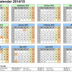 23+ Monthly Calendar Excel Template 2014