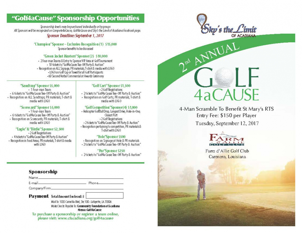 Sample How To Utilize Jot Form For Golf Tournament ...
