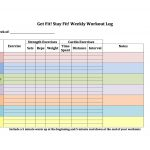 8+ Workout Schedule Template Excel