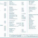 12+ Services Price List Template