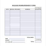 12+ Mileage Log With Reimbursement Form