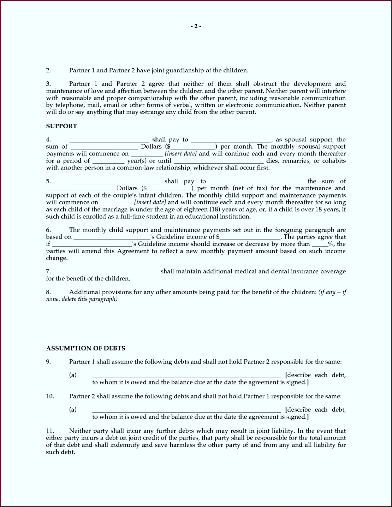 mon law separation agreement template bc otypy