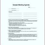 5 Safety Meeting Agenda Template