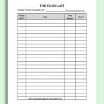 Simple To Do List Excel