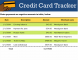 5+ Excel Credit Card Tracker Template