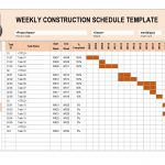 Template For Construction Schedule